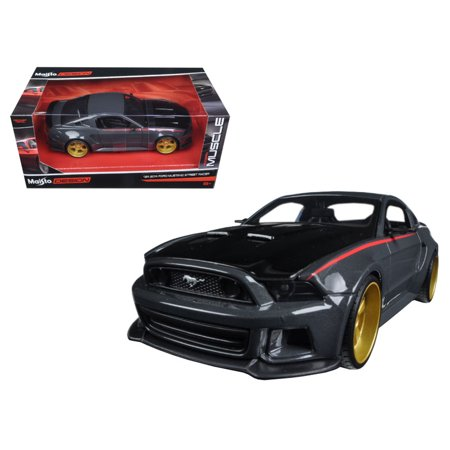 Ford Mustang Street Racer Grey and Black \Modern Muscle\