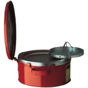 Justrite 10370 1 Gallon Bench Can With Basket