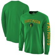 George Mason Patriots Fanatics Branded Distressed Arch Over Logo Long Sleeve T-Shirt - Kelly Green