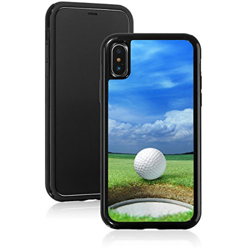 Shockproof Impact Hard Soft Case Cover For Apple Iphone Golf Ball On Lip Of Cup Green Course Black For Apple Iphone Xs Max Walmart Com Walmart Com