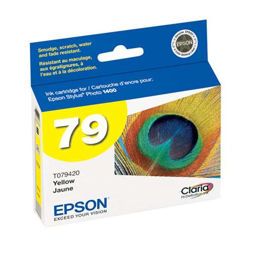 Epson (79) Claria High Capacity Yellow Ink Cartridge (800 Yield) T079420