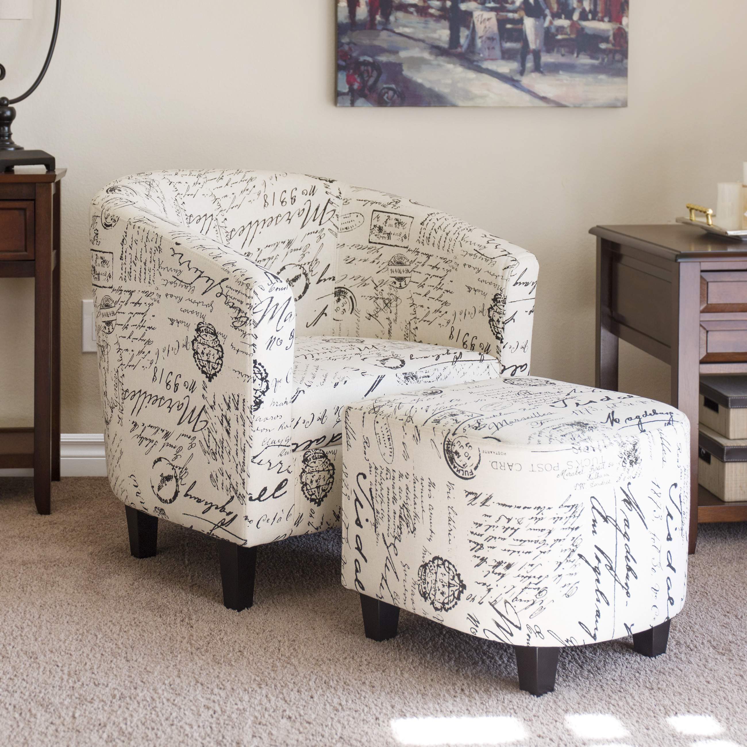 Best Choice Products Modern Contemporary Upholstered Barrel Accent