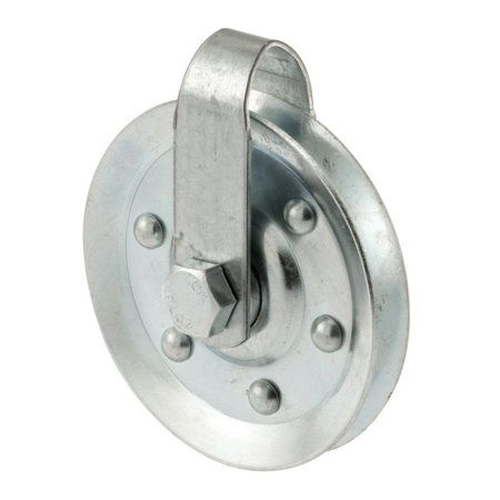 Prime-Line GD 52189 Pulley with 2 Straps and Axle Bolts, 3-Inch Diameter,(Pack of 2), Heavy duty galvanized steel construction By PRIMELINE