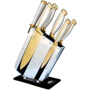 Triumph Hill Knife Set with Knife Stand Magnetic Bar Premium Cutlery, 8 Pieces