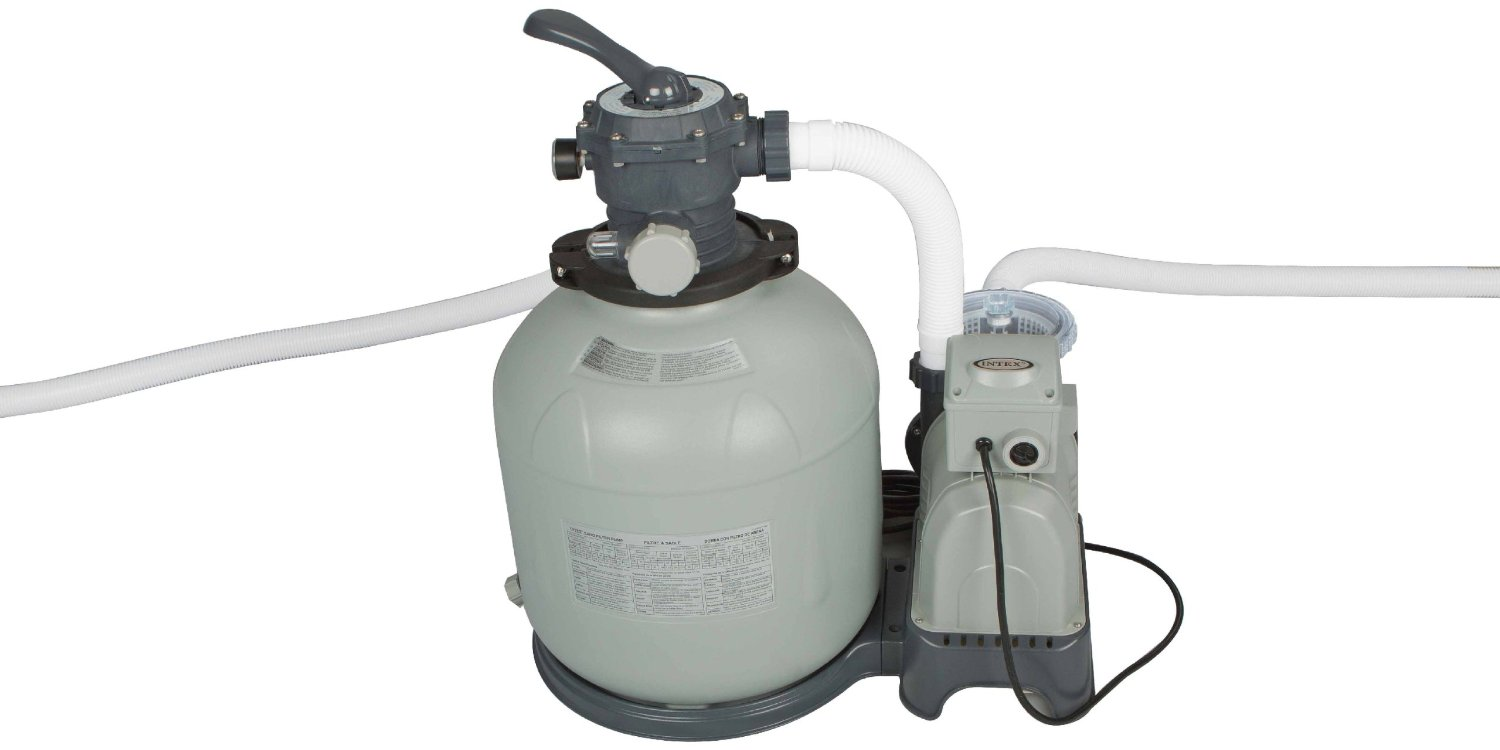 Intex Krystal Clear Sand Filter Pump for Above Ground Pools, 3000 GPH Pump Flow Rate, 110-120V with GFCI by Intex
