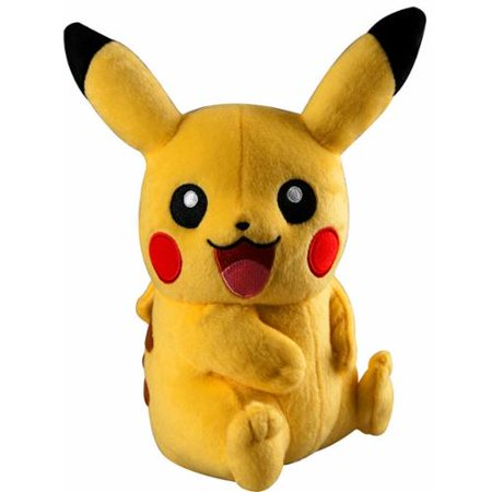 Pikachu Trainer's Choice Plush Sitting, Mouth Open, Both Eyes Open (Baby Stuff For Both Genders)