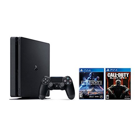 PlayStation 4 Slim 1TB Console 2 items Bundle: PS4 Slim - Star Wars Battlefront II Bundle and Call of Duty Black OPS III Game