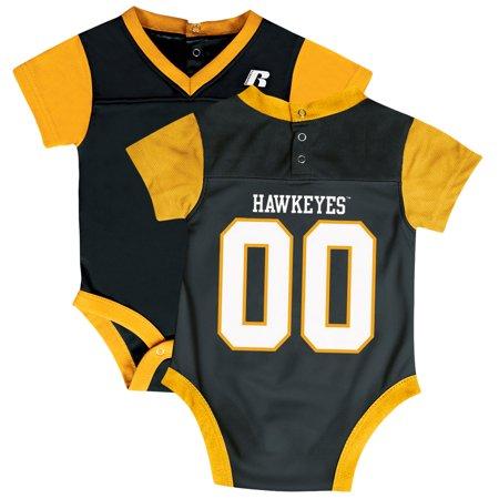 Iowa Hawkeye Baby Clothes - Newborn & Infant Russell Black Iowa Hawkeyes Fashion Jersey Bodysuit