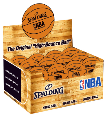 Spalding Sports Div Russell 51161 High-Bounce Ball, NBA Orange by SPALDING SPORTS DIV RUSSELL
