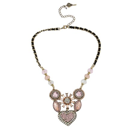 Crystallized Vintage Heart Six-Piece Necklace](Betsey Johnson Halloween Necklace)