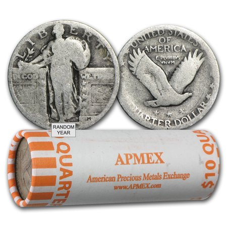 90% Silver Standing Liberty Quarters 40-Coin Roll -