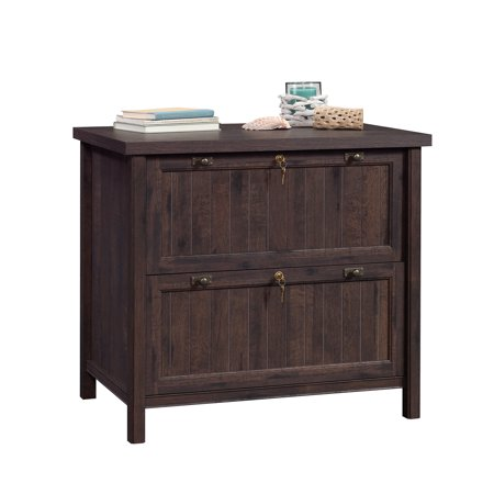 Sauder Costa Lateral File, Coffee Oak Finish Files Lateral Wood Laminate
