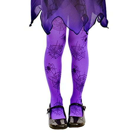 Boo! Inc. Purple Mid-rise Spider Webs Halloween Children's Cosplay Costume Tights - Children's Halloween Movies 2017