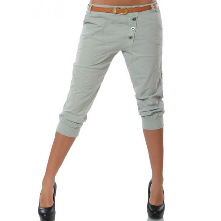 Summer Women Solid Casual Pants Plus Size Capri Trousers