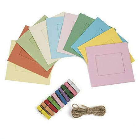 Kodak Square Photo Frames – Colorful 2x3 Frames Includes Classic Camera Frames, Magnetic Clothespins & String 8 Pack (Printomatic, Mini Shot, Mini2) 2 Square Tube Frame