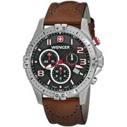 Wenger Men's Squadron Chronograph Leather Band Watch 77051