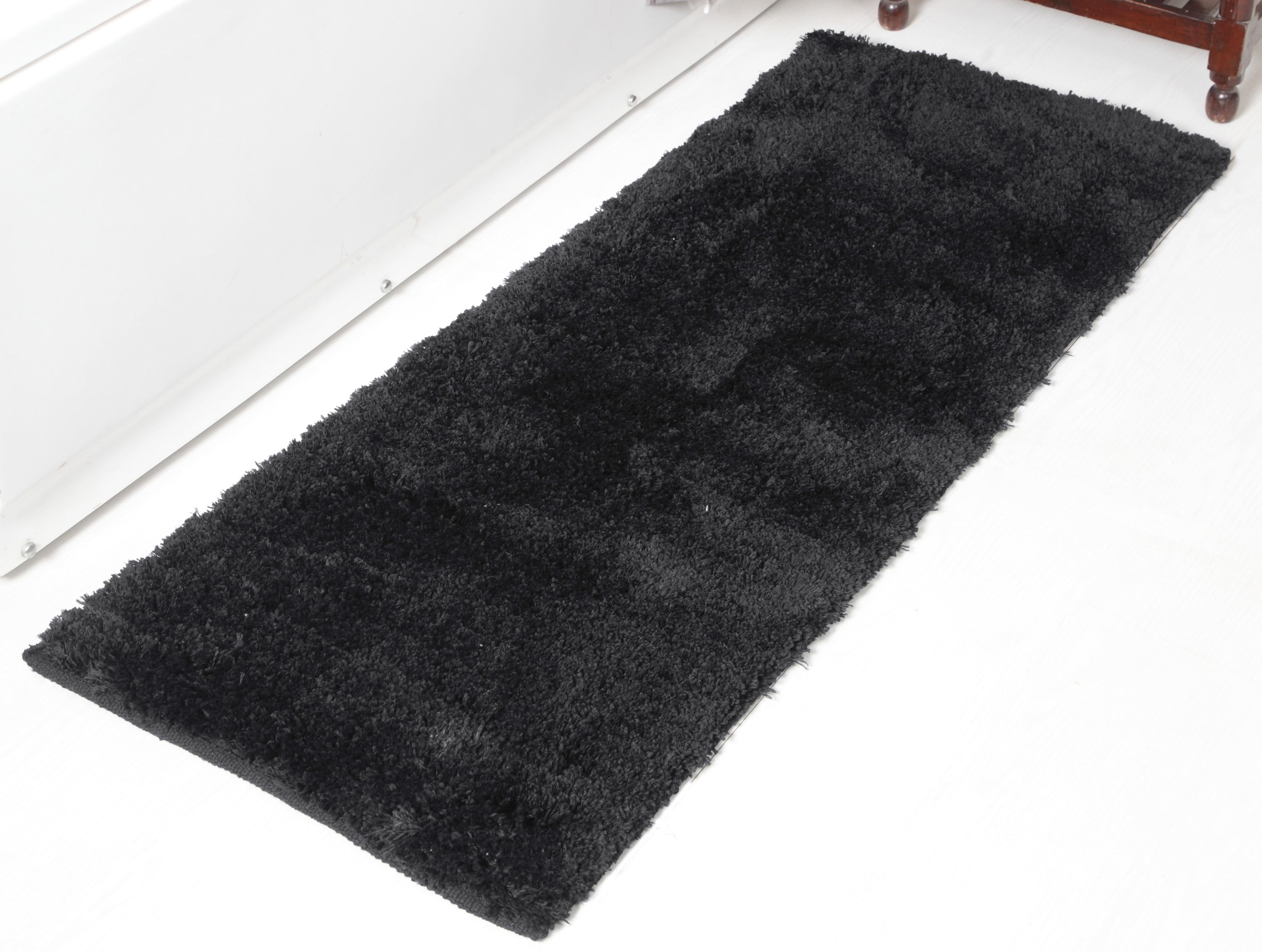 Addy Home Plush Collection Bath Rug or Runner - BLACK (24 ...