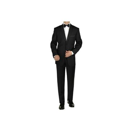 GN GIORGIO NAPOLI Men's Tuxedo Suit 2 Button Notch Lapel Jacket Adjustable Pant (Lapel Tuxedo Package)