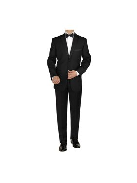 2fbf1352369f Product Image GN GIORGIO NAPOLI Men's Tuxedo Suit 2 Button Notch Lapel  Jacket Adjustable Pant black