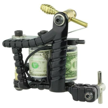 PRO Tattoo Machine Gun Liner Shader Custom Dual 10-Wrap Coils Supply -