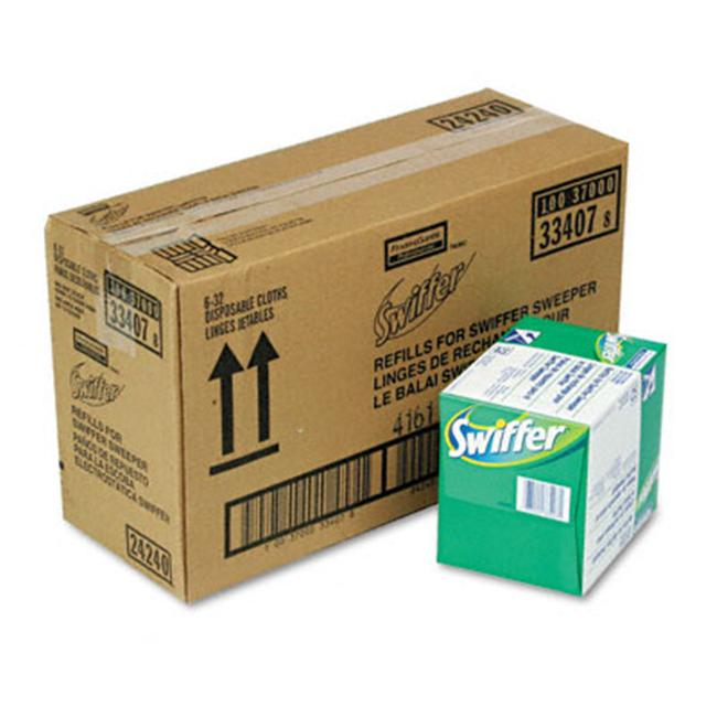 Procter & Gamble 33407CT Swiffer Sweeper Dry Refill System  Cloth  WE  32/box  6/carton