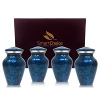 Set of 4 SmartChoice Keepsake Cremation Urns for Human Ashes - Handcrafted Funeral Memorial Mini Urns