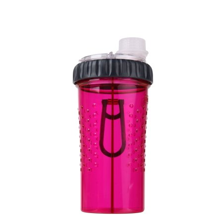 Dexas Snack-Duo Dual Chamber 16 Ounce Hydration Bottle & Snack Container Pink
