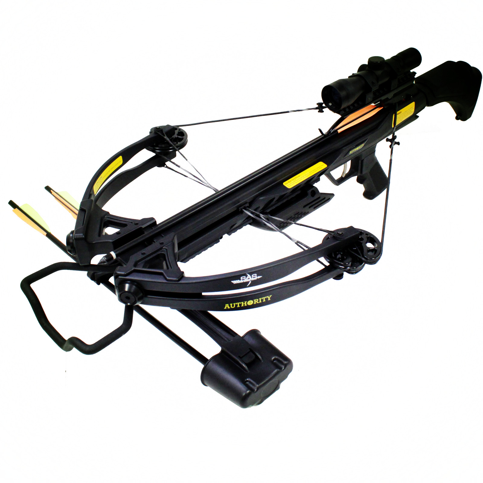 SAS Authoirity 175lbs Compound Crossbow Package Black by SAS