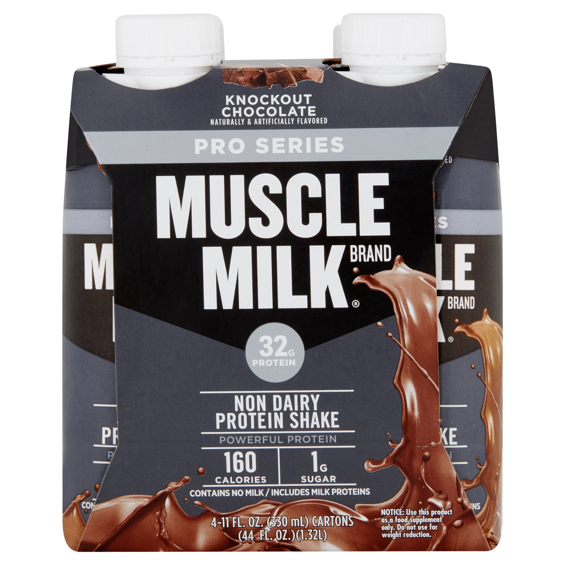 Muscle Milk Pro Series Shake 32 Grams Of Protein Knockout Chocolate 11 Oz 4 Ct