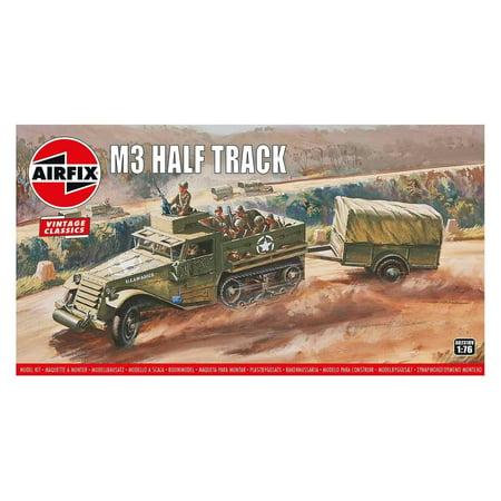 Airfix 02318V US M3A1 Half-track & Trailer 1/76 Scale Plastic Model Kit (Airfix Models)