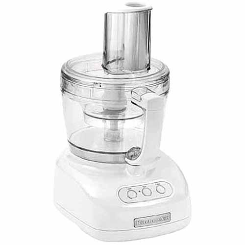 kitchenaid 12-cup food processor in white - walmart