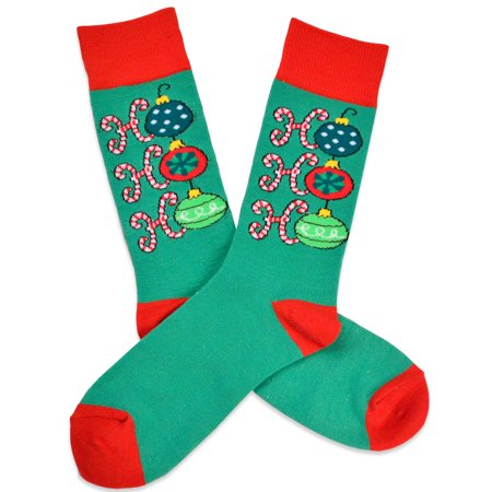 teehee christmas holiday socks ho ho ho crew socks for men - Walmart Christmas Socks