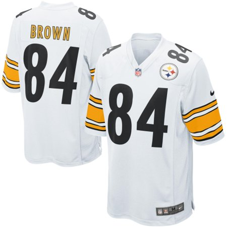 232ae88ac12 Antonio Brown Pittsburgh Steelers Nike Game Jersey - White - Walmart.com