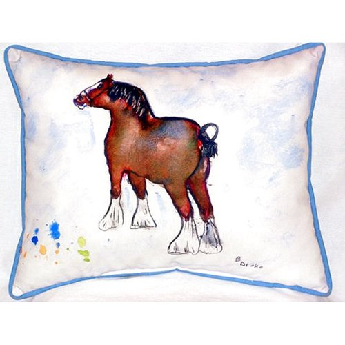 Betsy Drake Interiors Clydesdale 24'' Indoor/Outdoor Lumbar Pillow