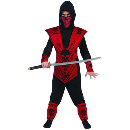 Red Skull Lord Ninja Costume Child - The Red Ninja