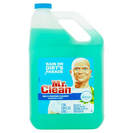 Mr Clean Meadows Rain Multi Surface Cleaner With Febreze 128 Fl Oz