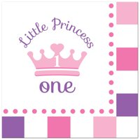 Little Princess 1st Birthday Paper Lunch Napkins, 48ct