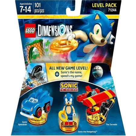 Sonic The Hedgehog Level Pack   Lego Dimensions  Through Lego Nintendo Goonies 71244 Iconic Pro World Ps4 Ps3 His Rings Blur Action Speeds Pack Including Is Non    By Warner Home Video   Games