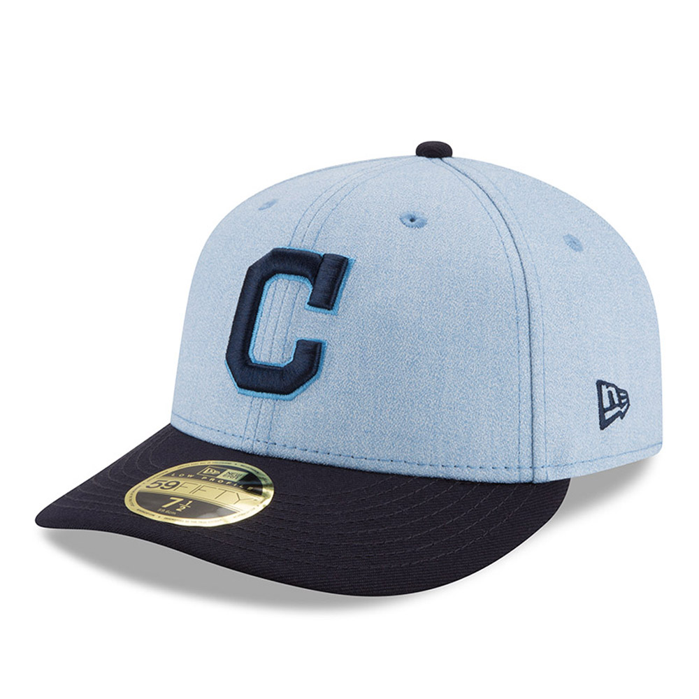 Cleveland Indians New Era 2018 Father's Day On Field Low Profile 59FIFTY Fitted Hat - Light Blue