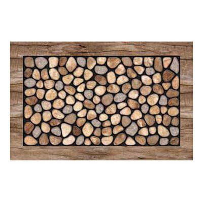 Masterpiece 60-730-1346-01800030 Stone Garden Welcome Mat - 18 x 30 in.
