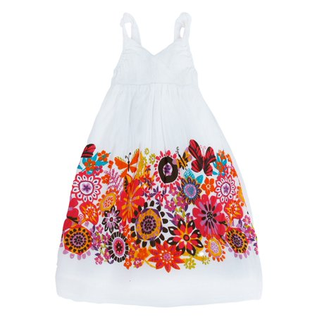 Richie House Girls' Summery Wildflower Dress RH120116