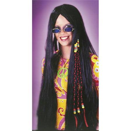 Costumes For All Occasions FW8592BK perruque tress-e Hippie 33Dans Blk - image 1 de 1