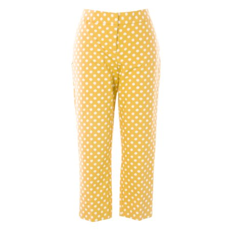BODEN Women's Printed Bistro Crop Trousers US Sz 10P Gold/White