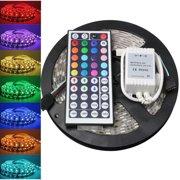 snorda 5050 RGB SMD LED Waterproof Flexible Strip 300 LEDs + 44 Key IR Remote 5M