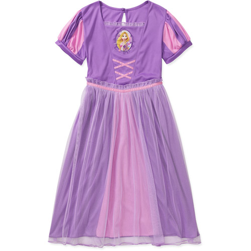Disney Tangled Girls' Rapunzel Dress Up Nightgown