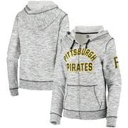 Pittsburgh Pirates New Era Women's Space Dye Full-Zip Jacket - Gray