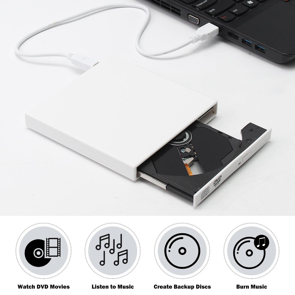 USB 2.0 External DVD Combo CD-RW Burner Drive CD±RW DVD ROM for PC Laptop
