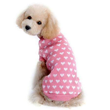 Mosunx Love Heart Pet Dog Sweater