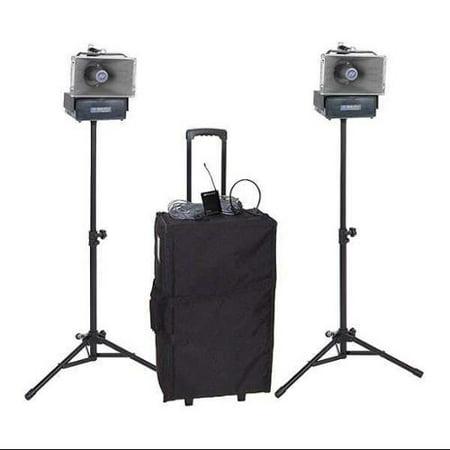 AMPLIVOX SOUND SYSTEMS SW640 Portable Public Address System, 50W, 15V