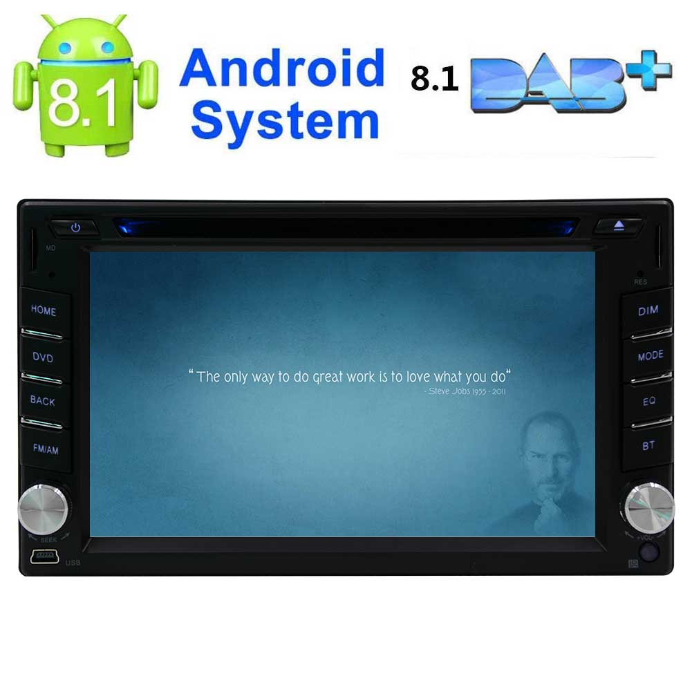 Android 8.1 2 Din 1080P Touch Screen Quad-Core Stereo Radio GPS Wifi Mirror Link